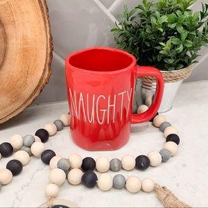 Rae Dunn Red NAUGHTY NICE Ceramic Coffee Mug